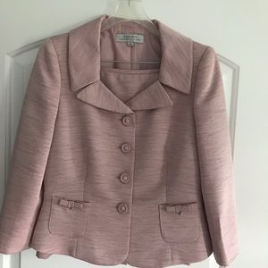 Tahari 2pc Suit Skirt Blazer set Gorgeous Pink 8